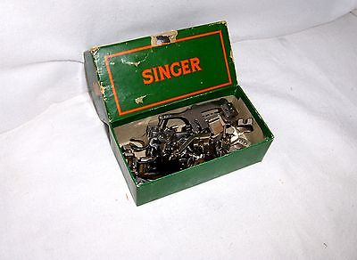 Singer Sewing Machine 221 222 Low Shank Box of Attachments