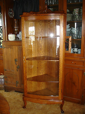Antique Curved Glass China Cabinet For Sale Classifieds