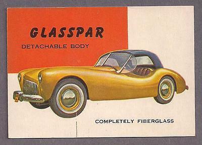 1953 Topps World on Wheels #136 Glasspar Fiberglass detachable body
