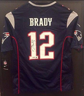 Tom Brady Autographed New England Patriots Jersey-TRISTAR/STEINER