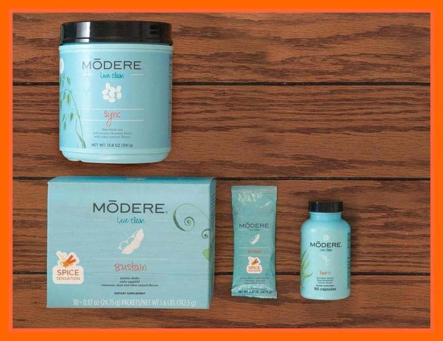 Modere M3 Diet Weight Loss Burn Sustain & Sync + Free Product + Free Ship