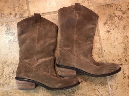 Jessica Simpson Rosanna Suede Cowboy Boots  9 fit Wide Calf