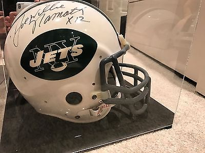 Joe Namath Signed Riddell Helmet