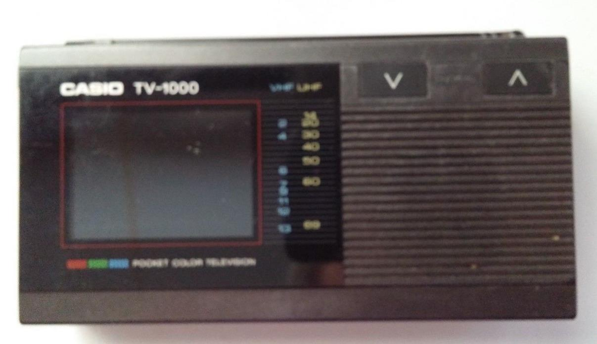 Vintage Casio TV-1000 ~ Pocket Size LCD Color Television