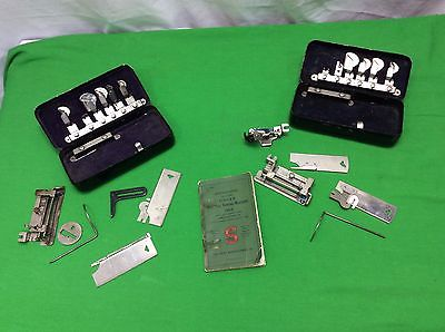 Lot of Vintage Antique Sewing Machine Attachments Singer Instructions Manual