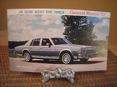 1977 GENERAL MOTORS COLOR BROCHURE CADILLAC OLDS CHEVY BUICK PONTIAC EUC!!!