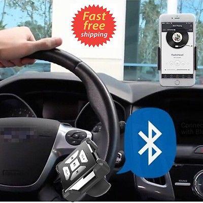 Bluetooth Media Car Wireless Music Steering Wheel Remote Control Button Handfree