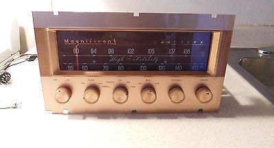 Magnificent Magnavox Stereo AM-FM Tube Tuner / Pre Amplifier from 1960 Console