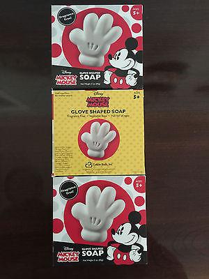 DISNEY - THREE (3) - NEW Mickey Mouse Glove Shaped Soap Bars