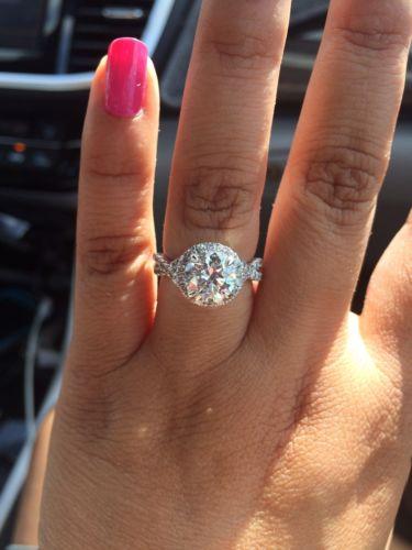 Diamond Semi Mount Ring Setting Twist Halo