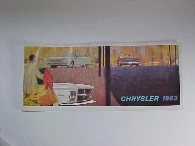 1963 Chrysler, Dealer's Car / Automobile Brochure: New Yorker, 300, Newport