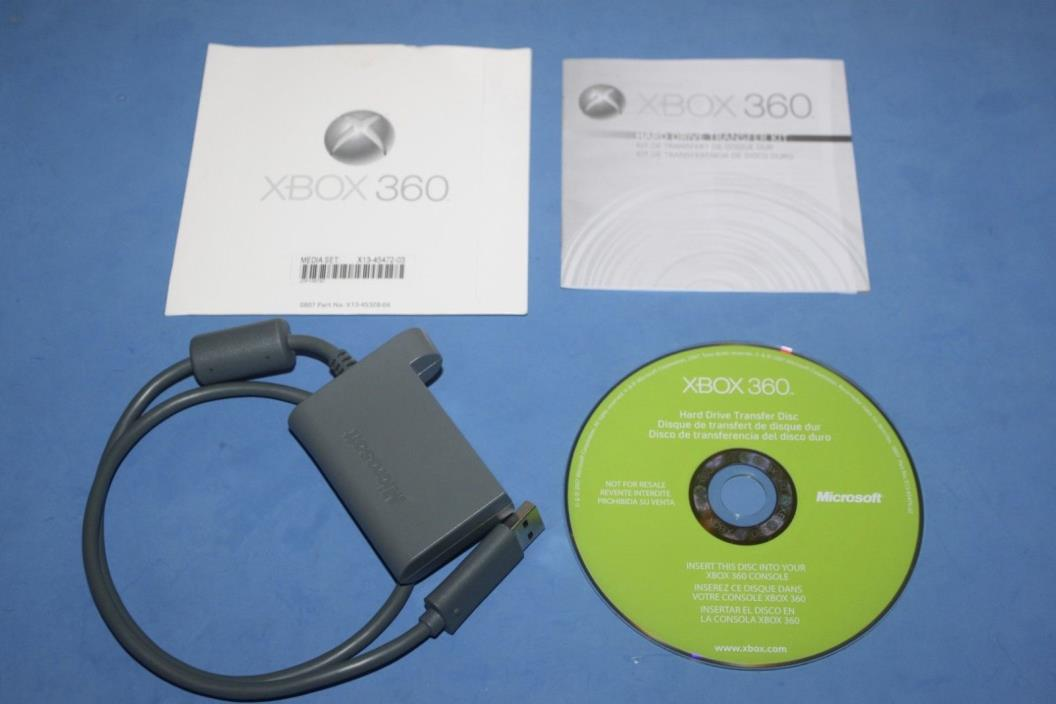 HARD DRIVE TRANSFER KIT - (Xbox 360) - Includes MANUAL, DISK & CABLE!