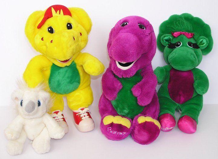 Vintage Lyons Group Barney BJ Baby Bop Twinken Purple Dinosaur Plush Toys 1990s