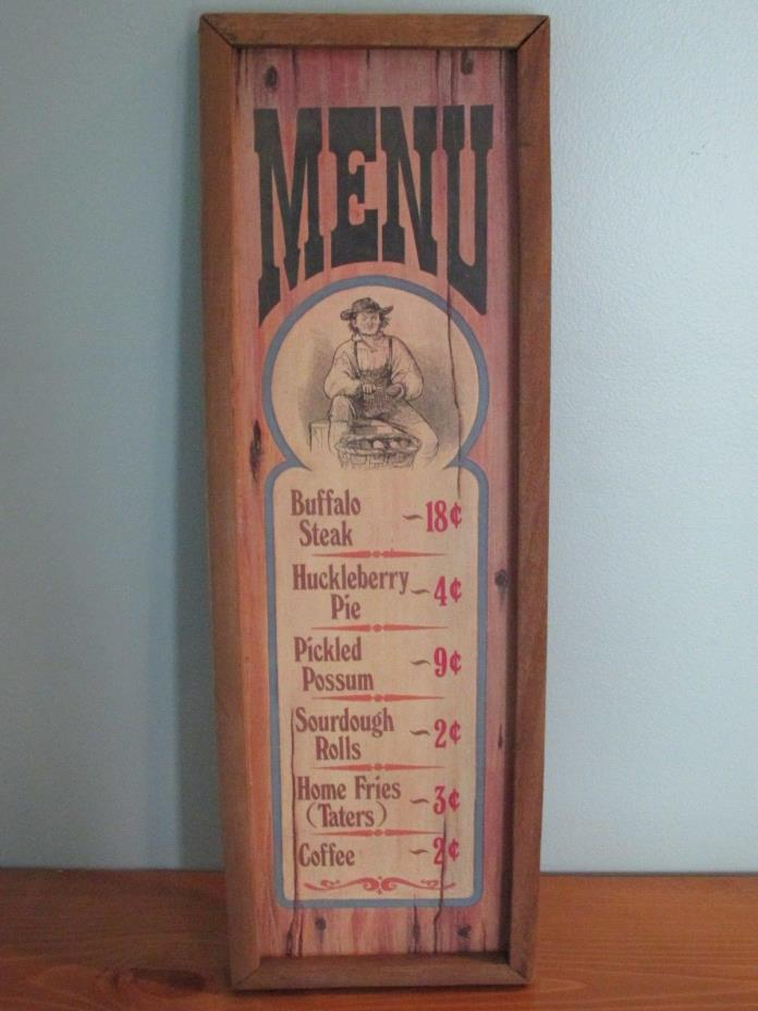 Menu Wood Wall Plaque By Americana Decorative Wall Plaques 1973