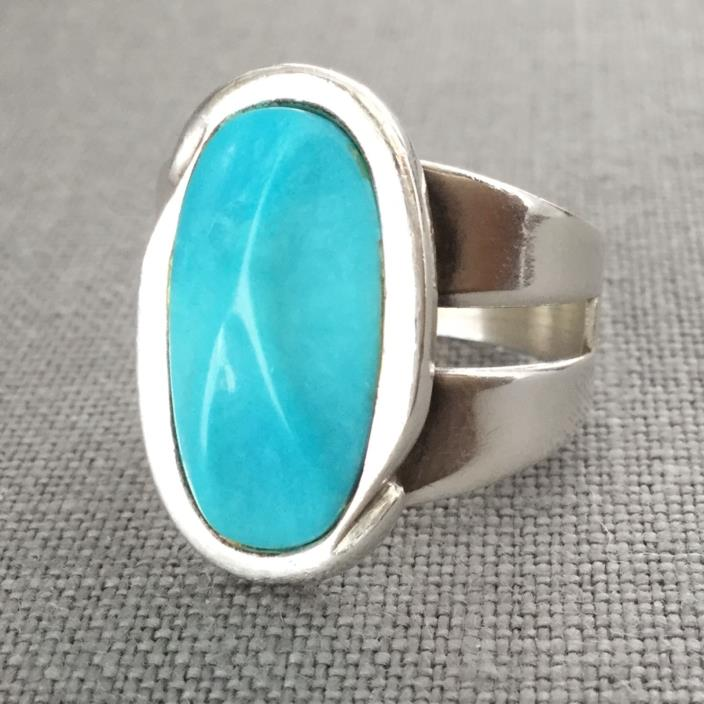 Jay King ring Turquoise size 12 DTR Sterling silver 925 Desert Rose Trading