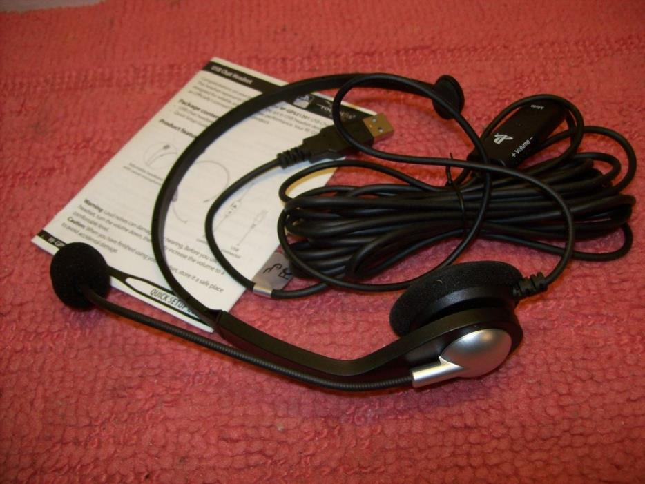 Rocketfish- Wired Chat Headset for PlayStation 3 PS3 - Black, new, Free U.S ship