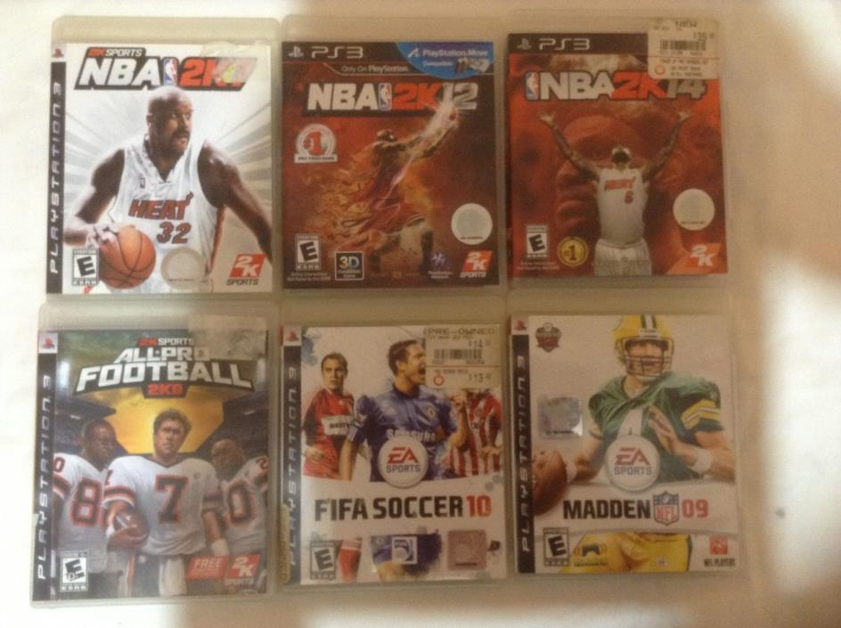 PS-3.  NBA 2K14  And FIFA Soccer and More 4 Games