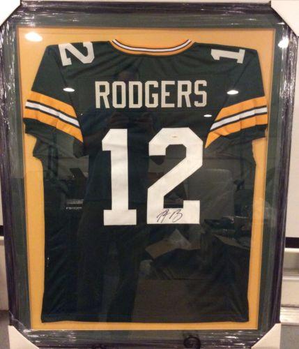 Aaron Rodgers Custom Framed Jersey! JSA Hologram