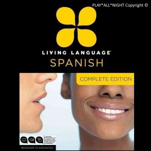 NEW Learn SPANISH Language Complete Beginner to advanced course 9 CD's +3 Books
