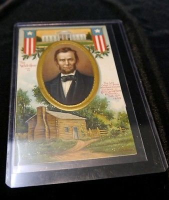 IAP CO, Lincoln Series No.51658 The White House and Log Cabin at Kentucky
