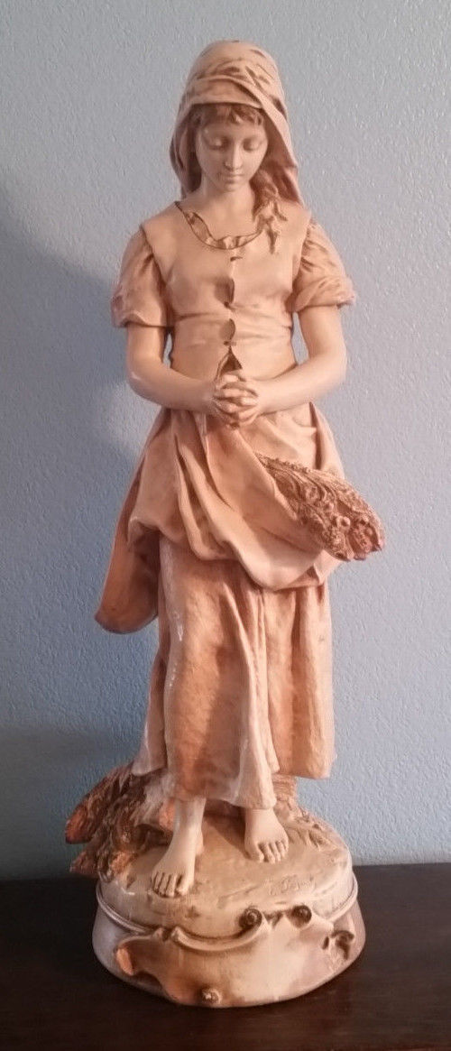 Vintage E. Peynot Ruth Statue by Alexander Backer Co. C