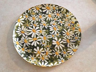 Vintage Thermowarre Daisy serving Platter Tray Large Round Plastic Retro Barware