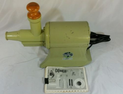VINTAGE CHAMPION JUICER GREEN WORKS WELL W MANUAL 1/3 HP 1725 RPM