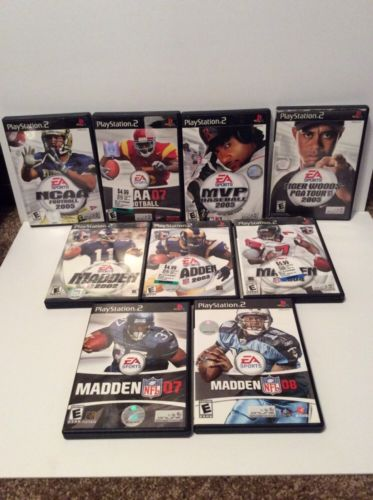 Lot Of 9 Playstation 2 Ps2 Sports Games Complete With Manual Except Ncaa 2005 *