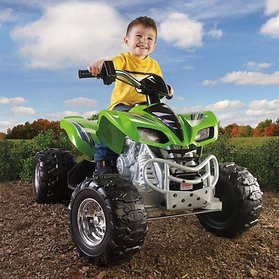 Fisher-Price Power Wheels Kawasaki KFX ATV Battery Powered Riding Toy