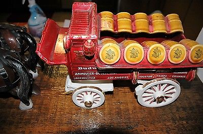 Budweiser Clydesdale Beer Wagon with Four Clydesdale Horses