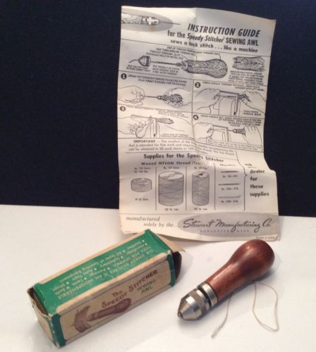 Vintage Speedy Stitcher Sewing Awl For Canvas Leather Work