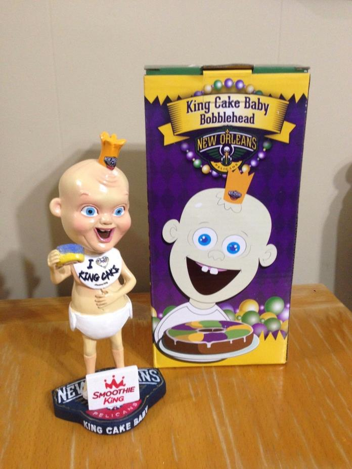 New Orleans Pelicans King Cake Baby bobblehead