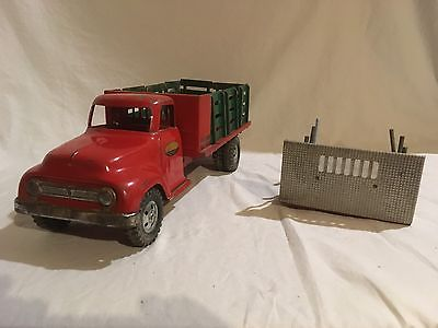 Tonka Farm Lumber Truck Stake Truck Changeable Beds Christmas Truck 1955
