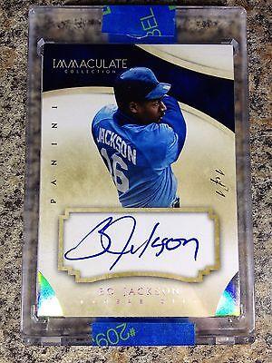 Bo Jackson Auto 1/1 Platinum Immaculate Baseball Royals
