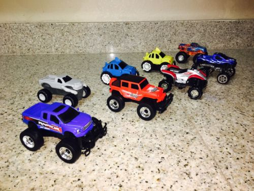 LARGE MIXED LOT OF 8 MONSTER CARS TRUCKS TOYS