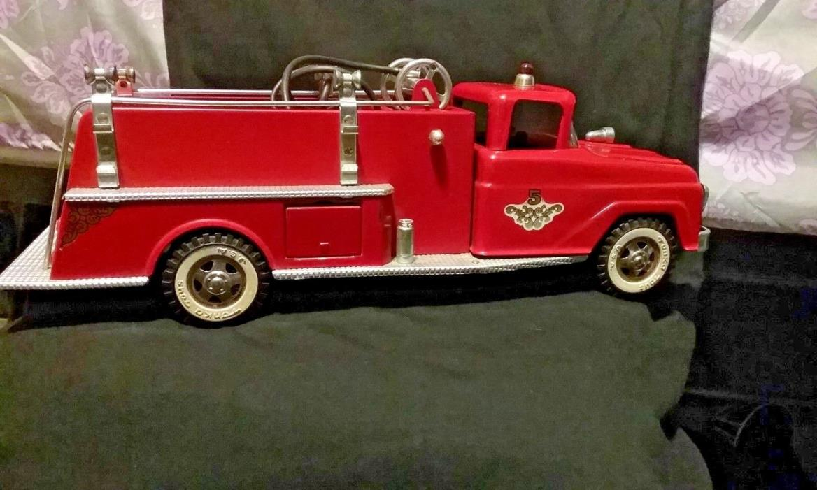 Tonka Toys Vintage Red Fire Truck 1957