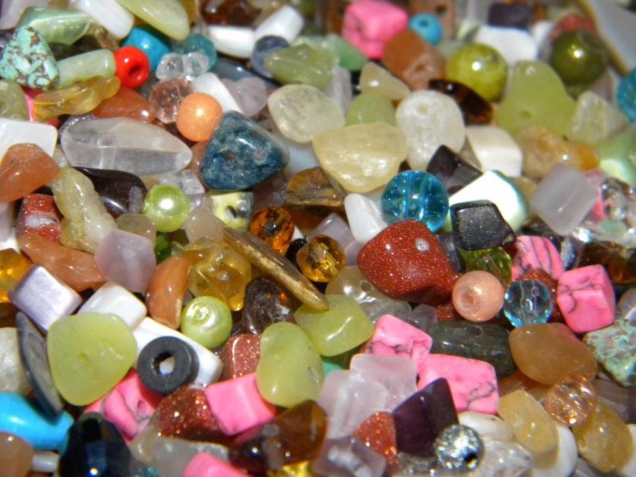 NEW 1000+ Mixed Gemstone, semiprecious, 3mm-6mm Chip Beads Lot -