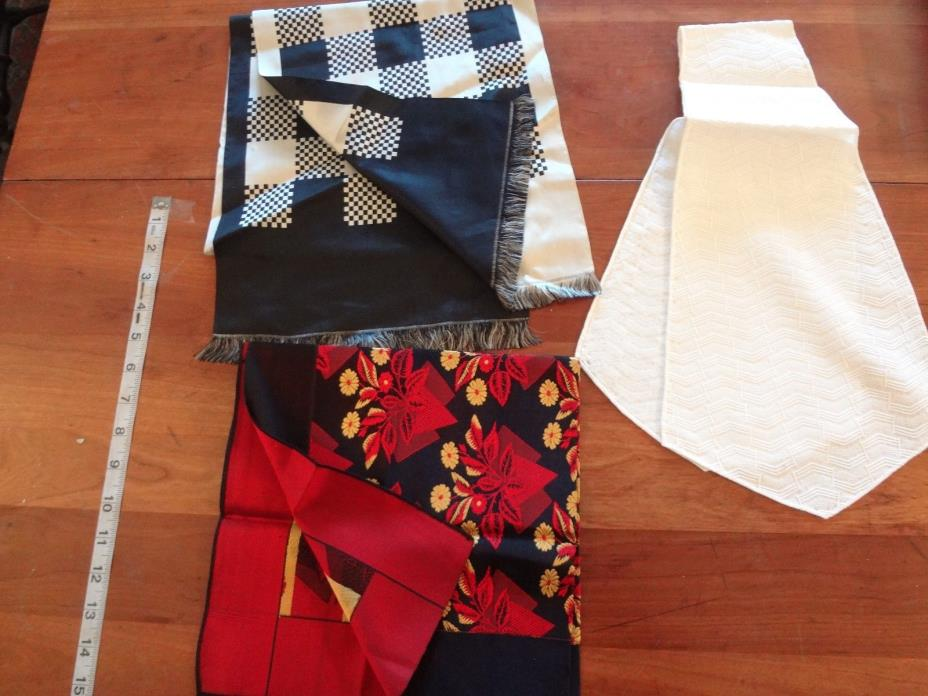 Vintage fabric sample scarf lot as is for study upcycle parts etc read below