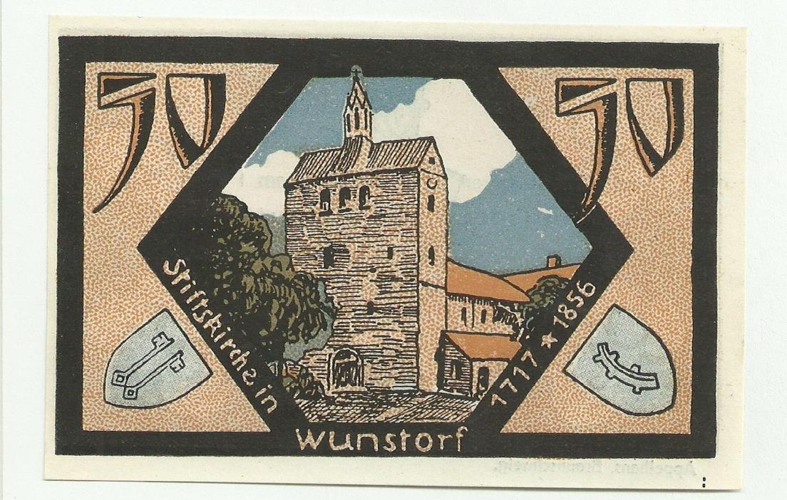 Germany, Neustad Notgeld, 50 Pfennig 1921 UNC AA1aaAA