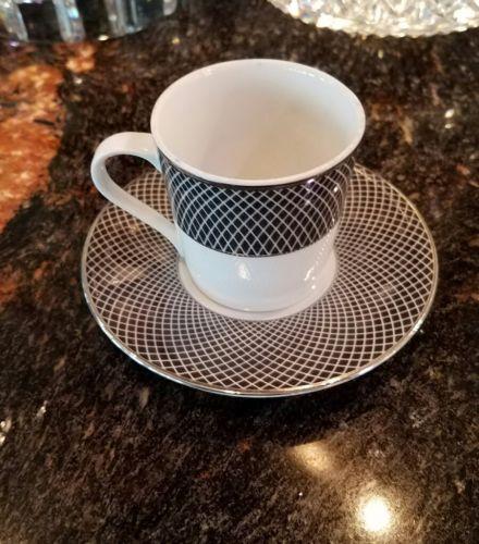 Block Spal 'midnight ' Pattern  Demitasse Cups & Saucers