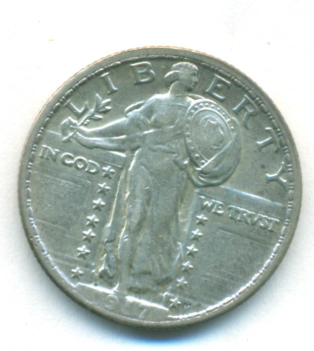 AWESOME 1917 TYPE 2 STANDING LIBERTY QUARTER