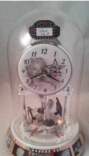 Marilyn Monroe Glass Dome Anniversary Clock Collectible Edition NIB!