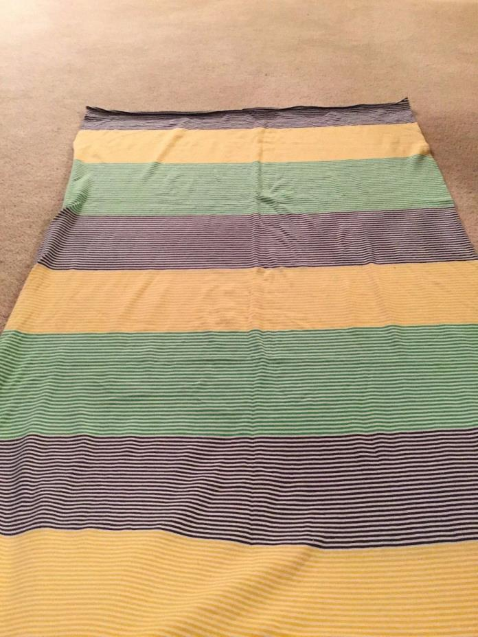 Knit Tune Fabric Navy Green Yellow White Striped 70