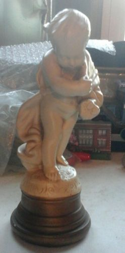 HIP abco Statue by ALEXANDER BACKER CO Chalkware - boy holding sticks cupid