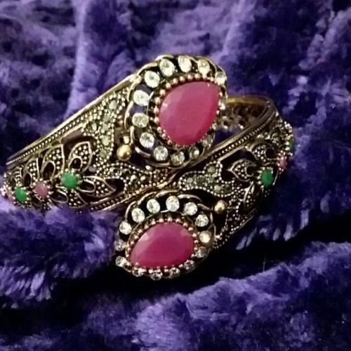 Vintage Turkish antique gold plated Bangle bracelet