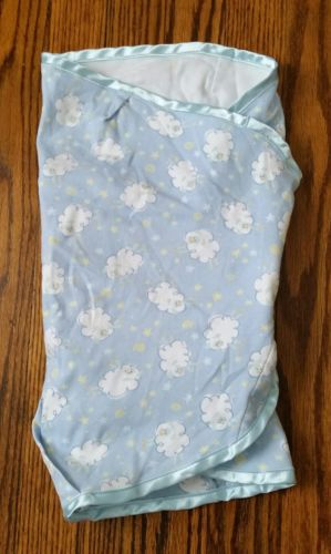 baby boys THE FIRST YEARS SWADDLER sleep sack BLANKET blue whales COTTON newborn