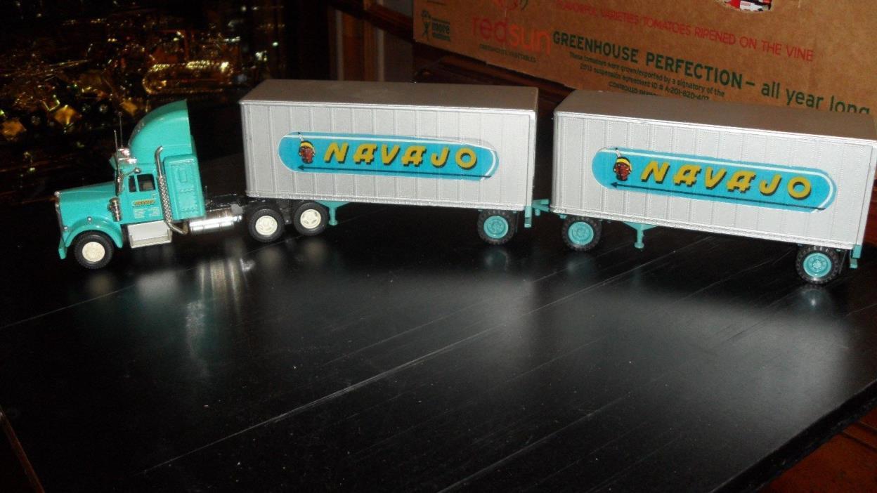 Corgi Kenworth Semi Truck NAVAJO Van Trailer Doubles CUSTOM  1/50 RARE no box