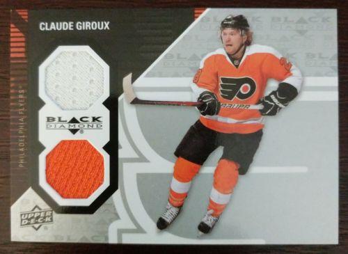 2011-12 Upper Deck Black Diamond CLAUDE GIROUX DUAL JERSEY Philadelphia Flyers