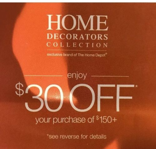 Home Decorators Collection HDC $30 off $150 Purchase Incl. Sale/Outlet-sent Fast