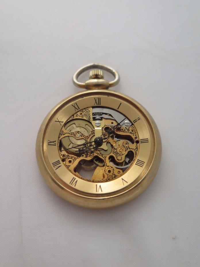 Gold Tone Pocket Watch For parts or repair